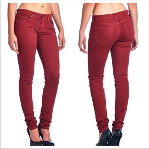 Angry Rabbit Red Denim Mid Rise Jeans